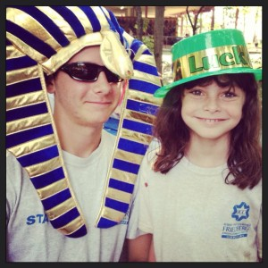 Crazy hat day at the Friedberg JCC Day Camp.