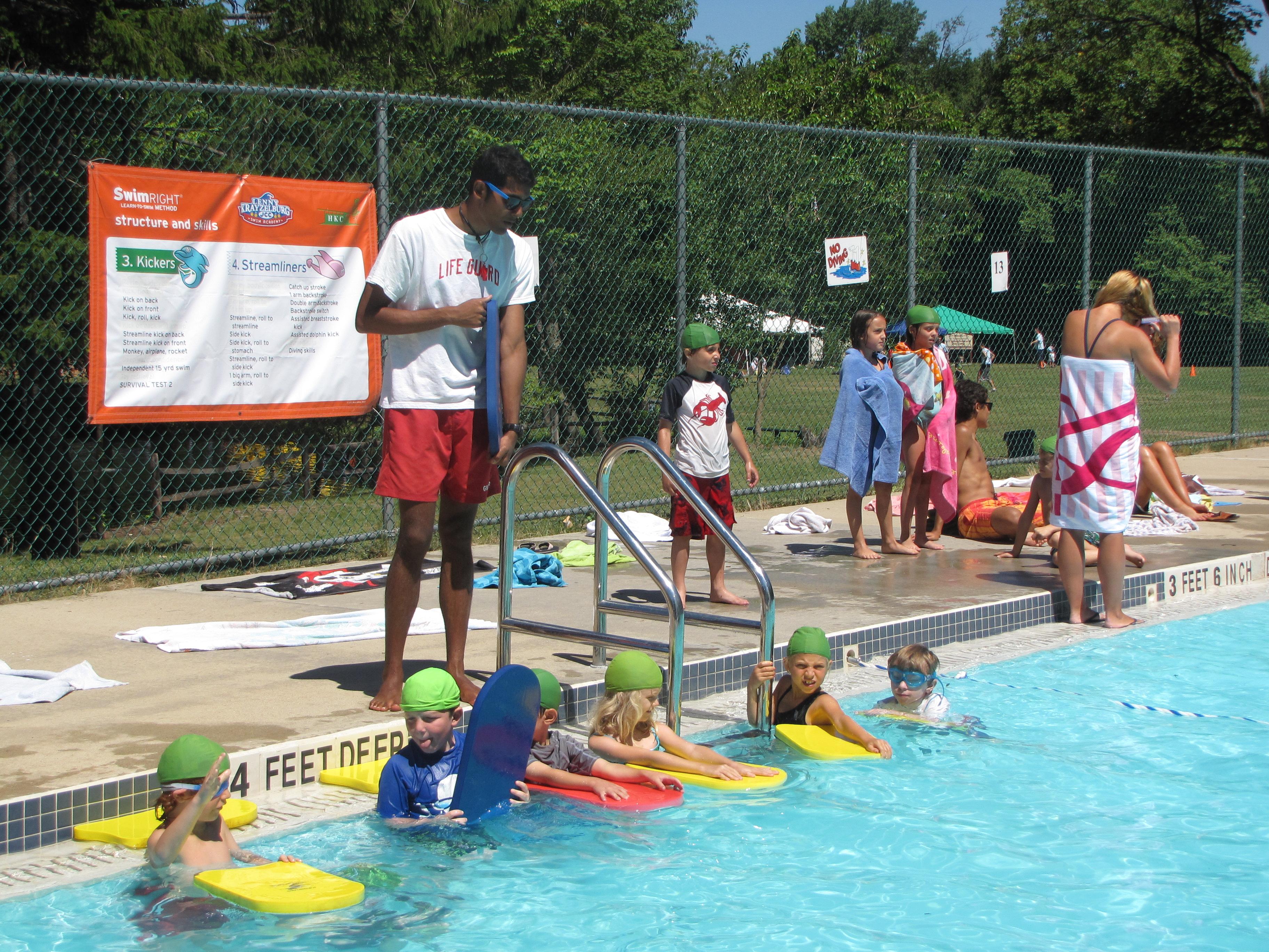 Learning to swim using the LKSA SwimRight technique.