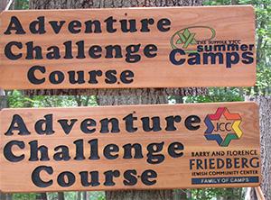 LI challenge course signs