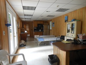 Inside the new infirmary