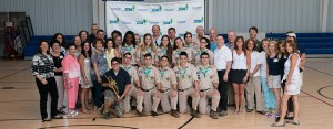 The Scouts with the Women's Task Force and HKC guests
