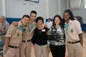 Tzofim with Executive Director of the 14th Street Y, Rabbi Shira Koch Epstein